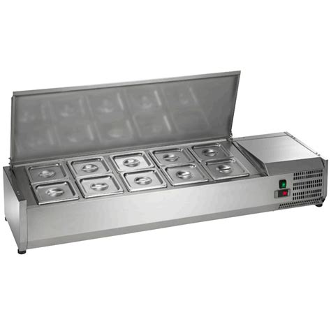 countertop prep cooler arctic air acp55 55 quot refrigerated countertop condiment