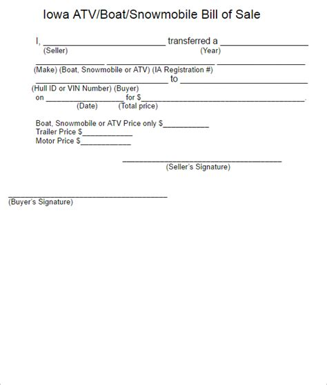 bill of sale template for atv 15 free atv bill of sale templates pdf word formats