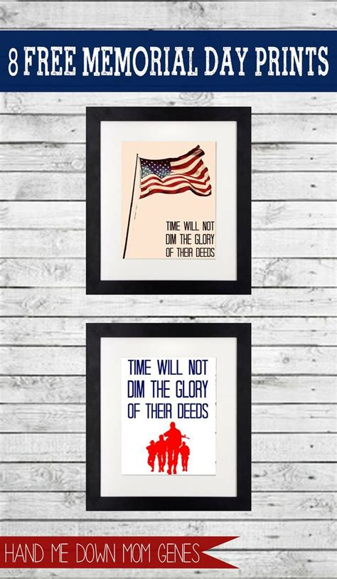 printable remembrance day poster 8 free memorial day prints in high resolution from hand me