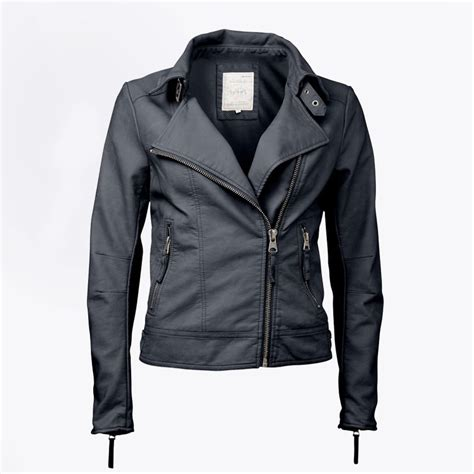 Faux Leather Jacket faux leather biker jacket navy womens leather