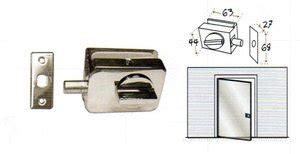 jual kunci pintu slot grendel kaca  mm glass door lock