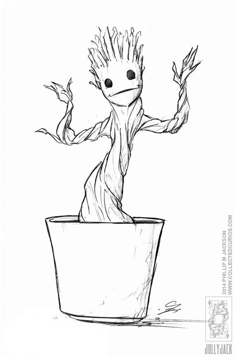 coloring page baby groot demoncon 8 dancing groot by jollyjack deviantart com on