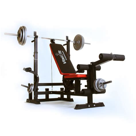 barbell and bench folding weight bench 6 in 1 including barbell weights