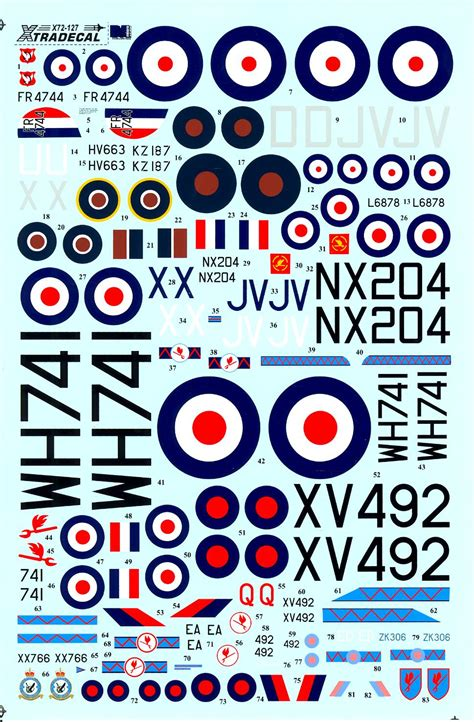 Xtra Decals 1/72 BRITISH 6 SQUADRON HISTORY 1931-2010 Xtra Decals