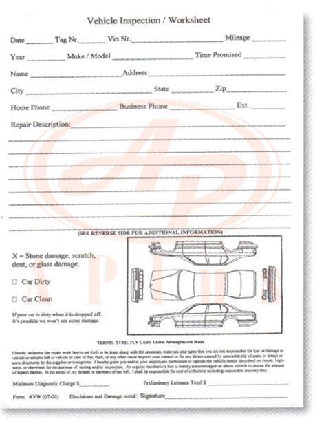 Used Car Worksheet by Vehicle Inspection Worksheet Wiildcreative