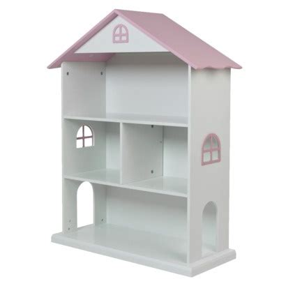 doll house bookshelf dollhouse kids bookcase white pink