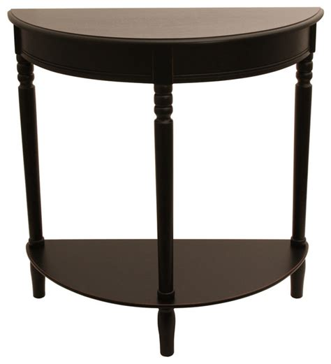 round black accent table simplicity half round accent table black contemporary