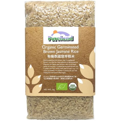 Organic Brown Rice 1 Kg pureland organic germinated brown rice 1kg babyonline