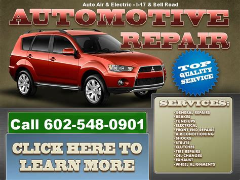 car service ad auto service and repair complete auto maintenance and