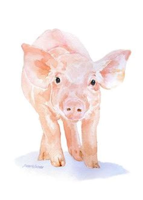 Pin Monokuro Boo Babi Pig 6x6 inch impressionistic pig painting original painting of a sweet pig paintings of