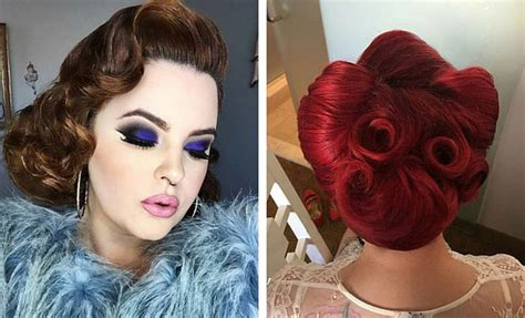 Pin Up Hairstyles by 40s Pin Up Hairstyles Www Pixshark Images
