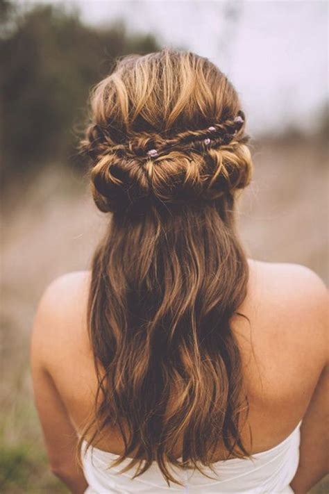 hairstyles for brides over 40 half up half down wedding hairstyles 40 stylish ideas