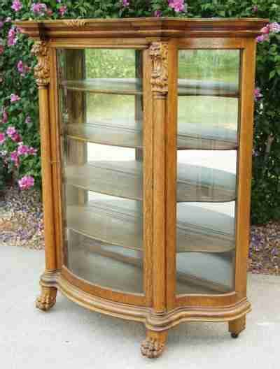 curved front corner curio cabinet antique china hutch with curved glass china hutch china