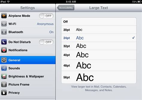 how to make text more readable larger on your and