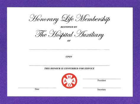 honorary membership certificate template honorary membership certificate hospital