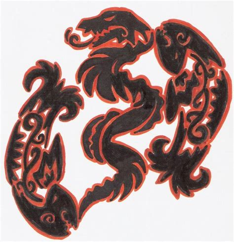 tribal zodiac pisces and snake by tigerwithwings on deviantart