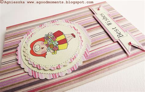 Handmade Best Wishes Cards - moments folk best wishes card with matching gift tag