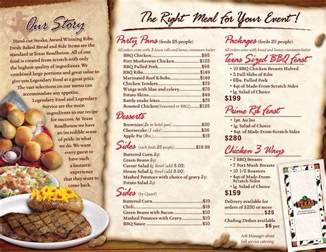 texas road house menu texas roadhouse menu nutrition