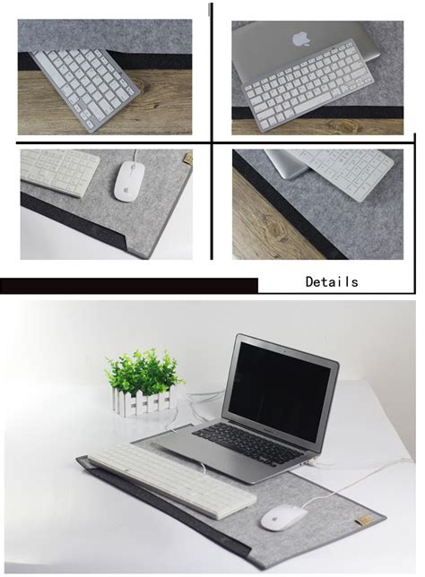 Laptop Desk Pad Ngwx Large Simple Fashion 650x340mm Felt Computer Desk Pad Brown Grey Sale Banggood