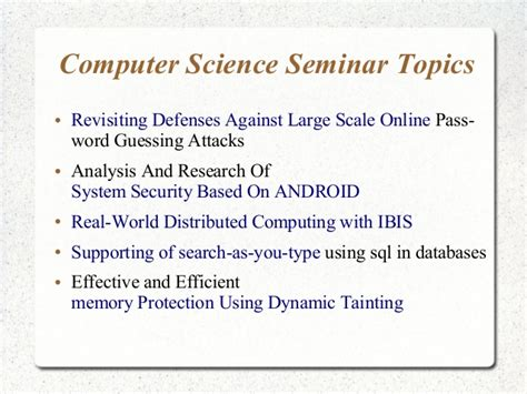 research paper topics on computer science top research paper topics in computer science