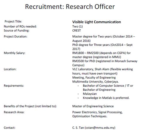 ieee malaysia section vacancy for graduate research assistant gra faculty of