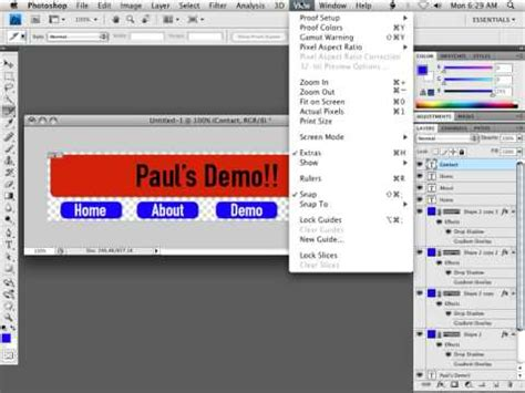 dreamweaver tutorial navigation bar photoshop dreamweaver cs4 tutorial slicing images for