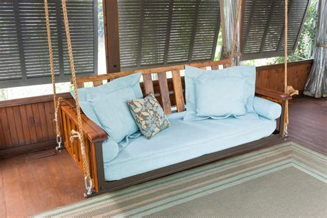 the swing company the craftsman teak bed swing the porch companythe porch