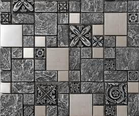steel backsplash kitchen ceramic wall tiles silver metal mosaic tile ssmt resin aluminum