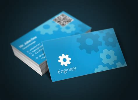 engineering business cards templates civil engineer business card psd 187 designtube creative