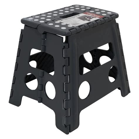 Collapsible 2 Step Stool by Plastic Folding Step Up Stool Heavy Duty 2 Step Stool