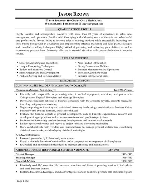 Resume Sales Executive Marketing Resume Template Exles Sales Senior Executive Car With