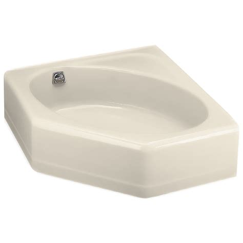 Lowes Corner Bathtubs shop kohler 48 in x 44 in mayflower almond corner skirted