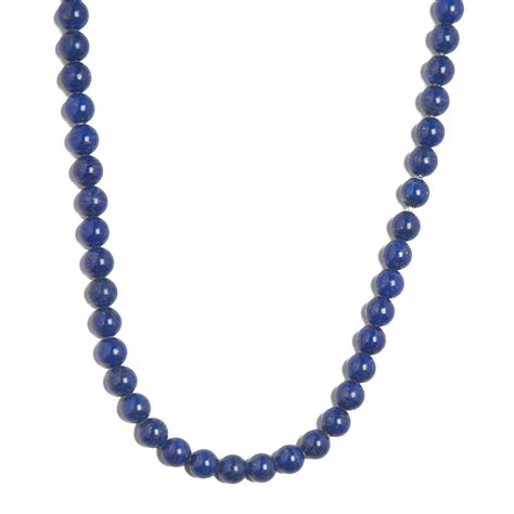 blue lapis bead necklace beaded necklace blue lapis zicana