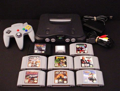 nintendo n64 console nintendo 64 console n64 system with rage fox