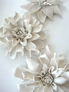 Ceramic Flower Wall Decor by Porcelain Clematis For Table Wall Or Ceiling Firing And