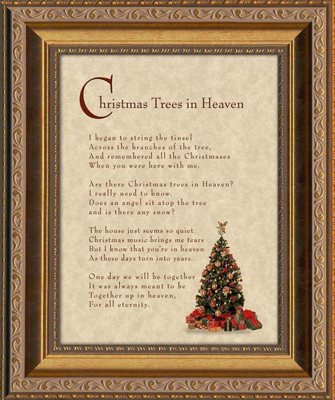 christmas tree in heaven christian memorial bereavement