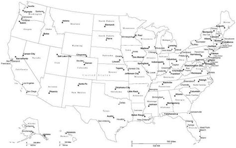 Black And White Map Of Usa With Cities | black white usa map adobe illustrator vector file cut