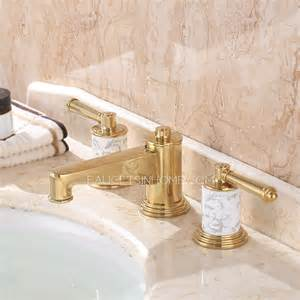 gold bathroom sink faucets luxury polished brass three gold bathroom sink faucet