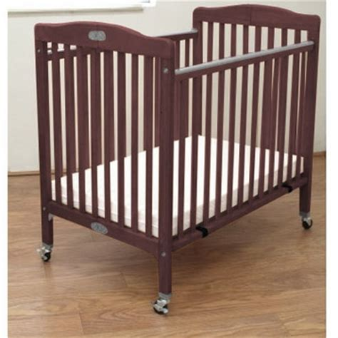La Baby Wood Folding Portable Crib In Cherry Free Shipping La Baby Portable Crib