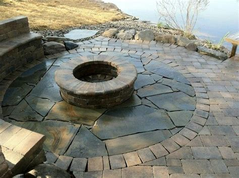 fire pit bench seating lakeside fire pit with bench seating ideas pinterest