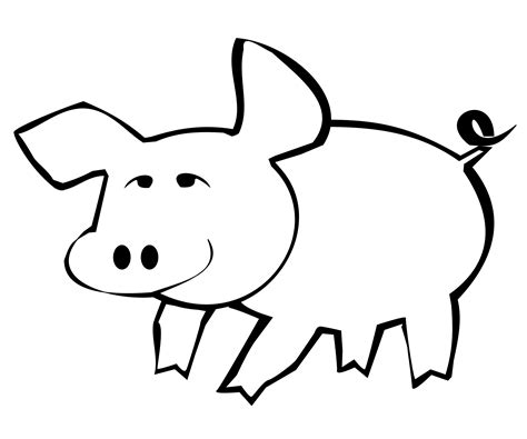 Pig Outline by Clipart Pig Outline