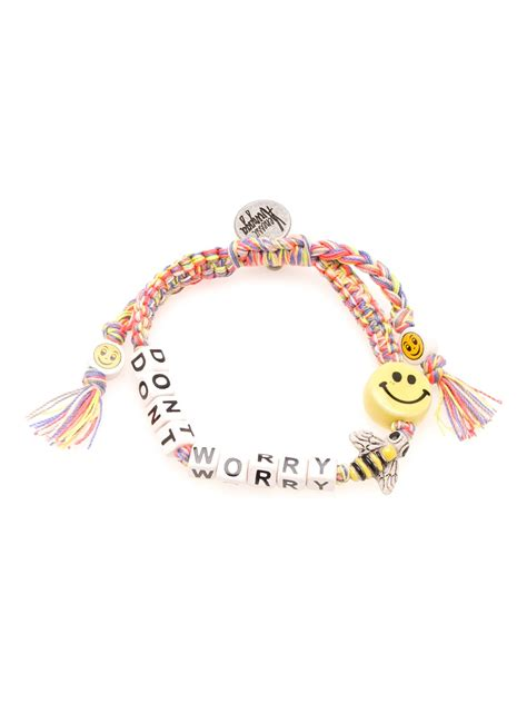 worry bracelet venessa arizaga dont worry be happy bracelet in multicolor