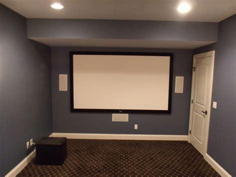projector screen  left center   wall speaker