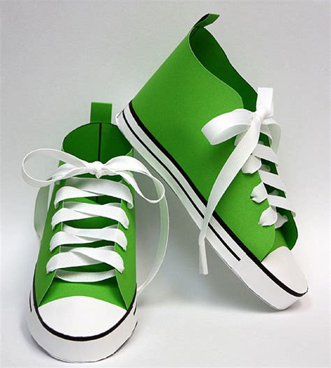 Paper Shoe Craft - baby converse paper shoe template paper shoes