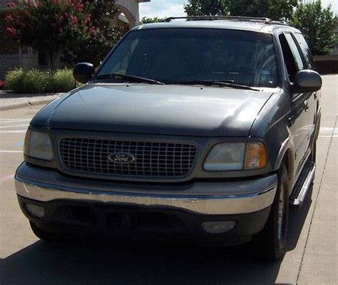 Expedition E6674 Black Leather Green sell used 1999 ford expedition quot eddie bauer quot great shape third seat leather 5 4 triton v 8 in