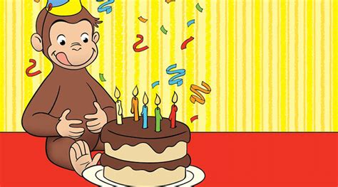 curious george birthday card template curious george favors birthday pbs
