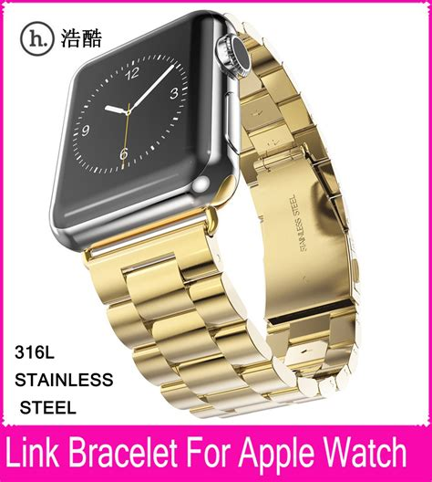 Istomp Link Bracelet For Apple 38mm 42mm new arrival 3 pionters gold link bracelet watchband for apple 42mm 38mm with metal adapter