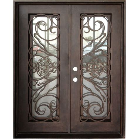Glass And Iron Doors Upc 852336002063 Doors With Glass Trento Doors Iron Doors 62 In X 81 In Copper Prehung