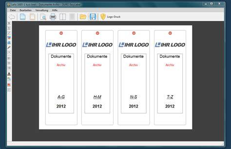 Word Vorlage Ordnerrücken Elba Software F 195 188 R Professionelles Beschriften Ordnerr 195 188 Cken Duro Easylabel