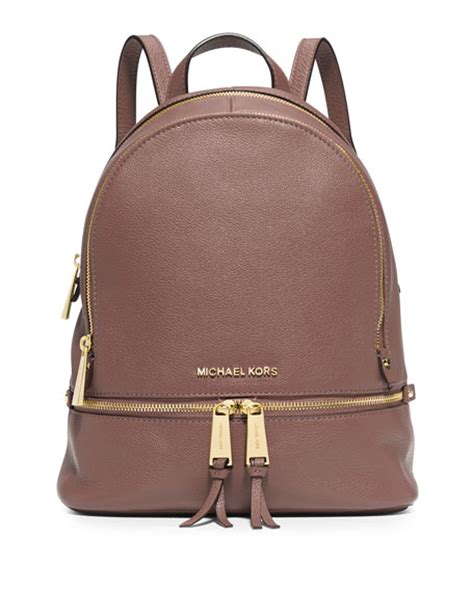 MICHAEL Michael Kors Rhea Small Zip Backpack, Dusty Rose